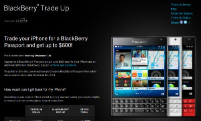 BlackBerry Bikin Program Tukar Tambah iPhone kePassport